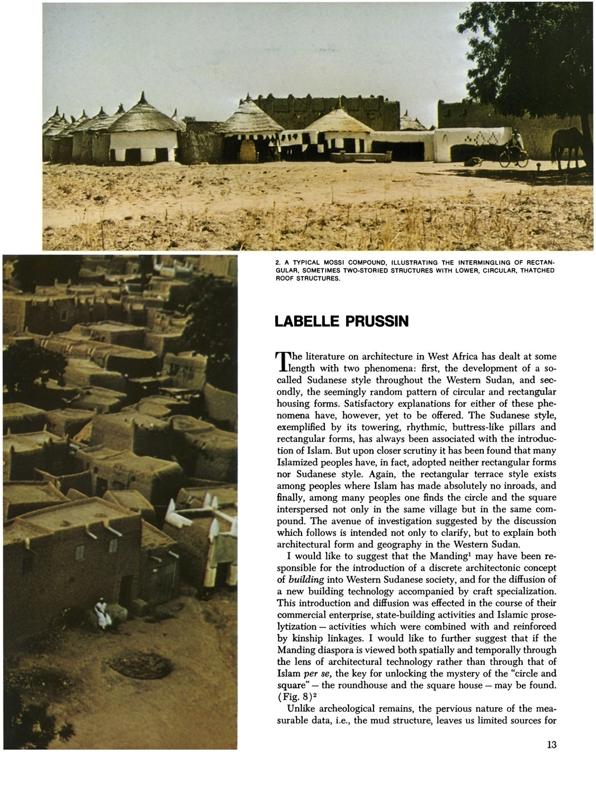 """Pages from Labelle Prussin, """"Sudanese Architecture and the Manding"""""""