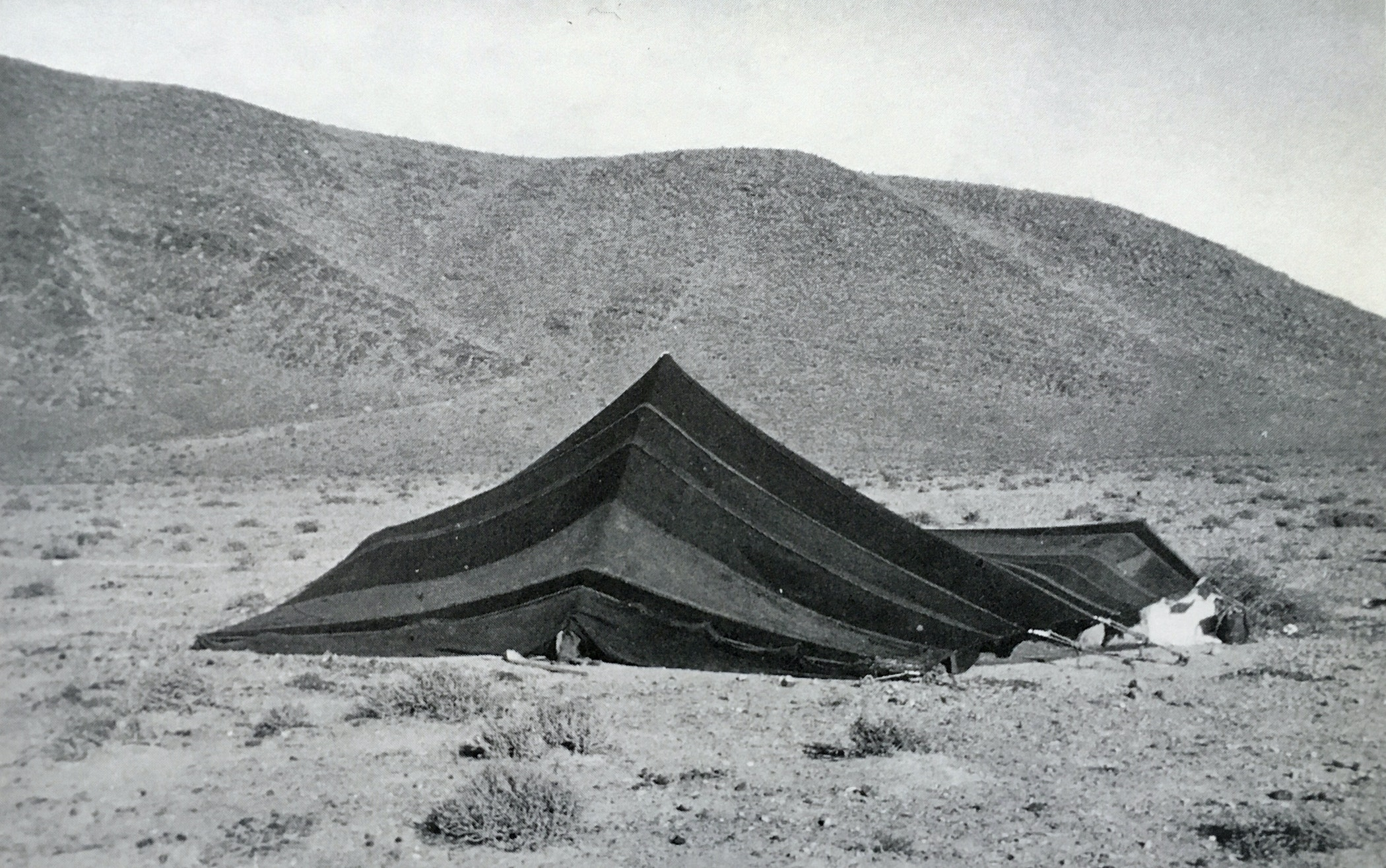 The back of a Tekna Lansas tent in southwest Morocco