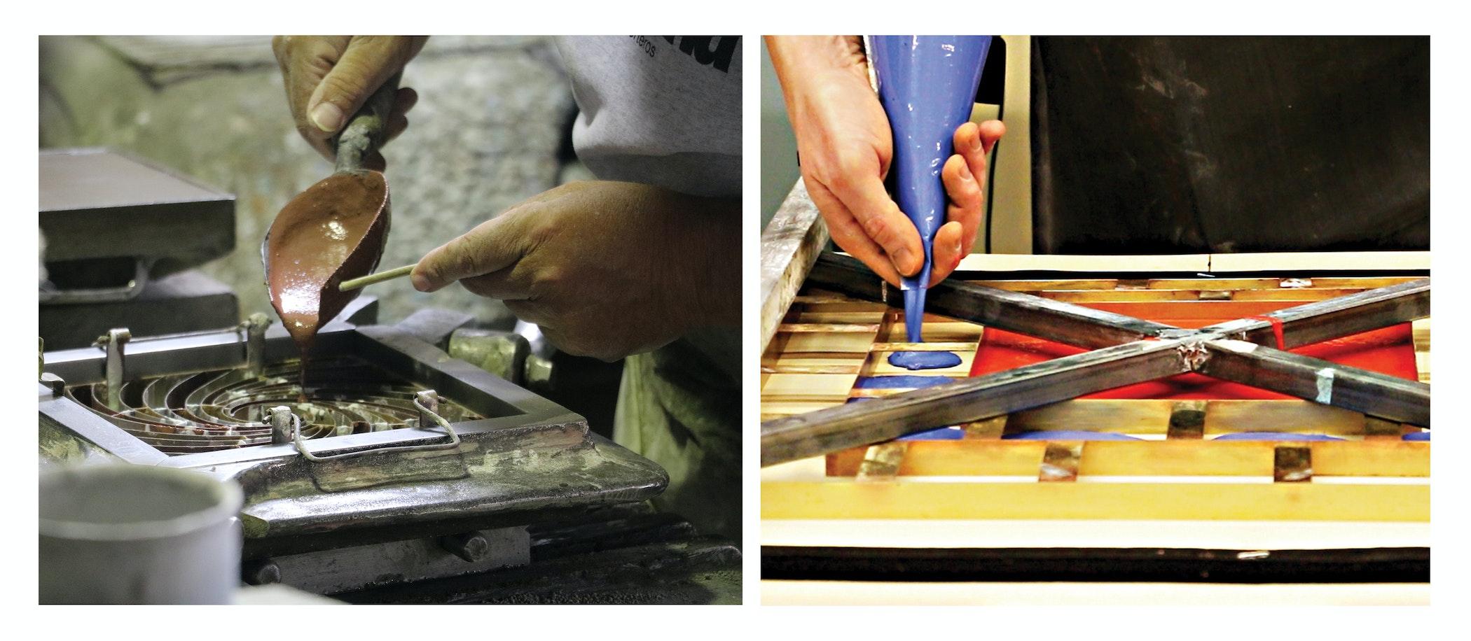 Encaustic tile fabrication process