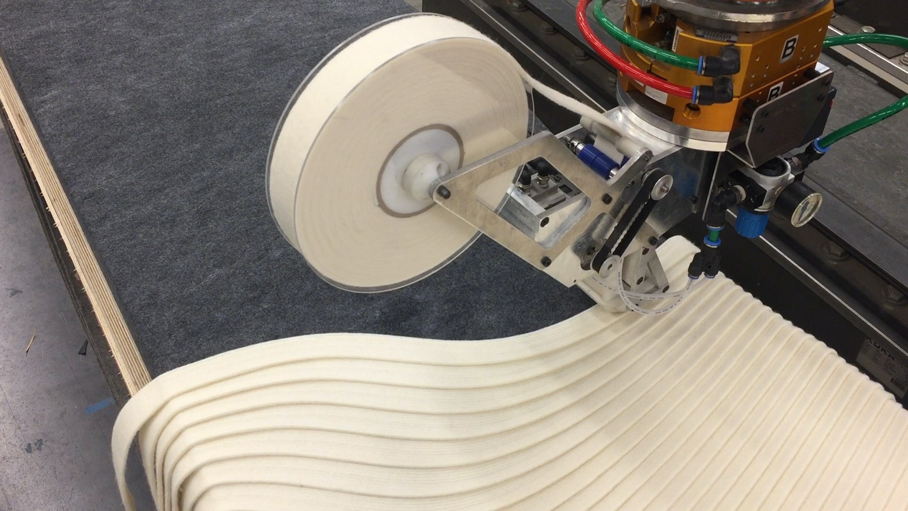 Robotic felter laying 1 ½ in