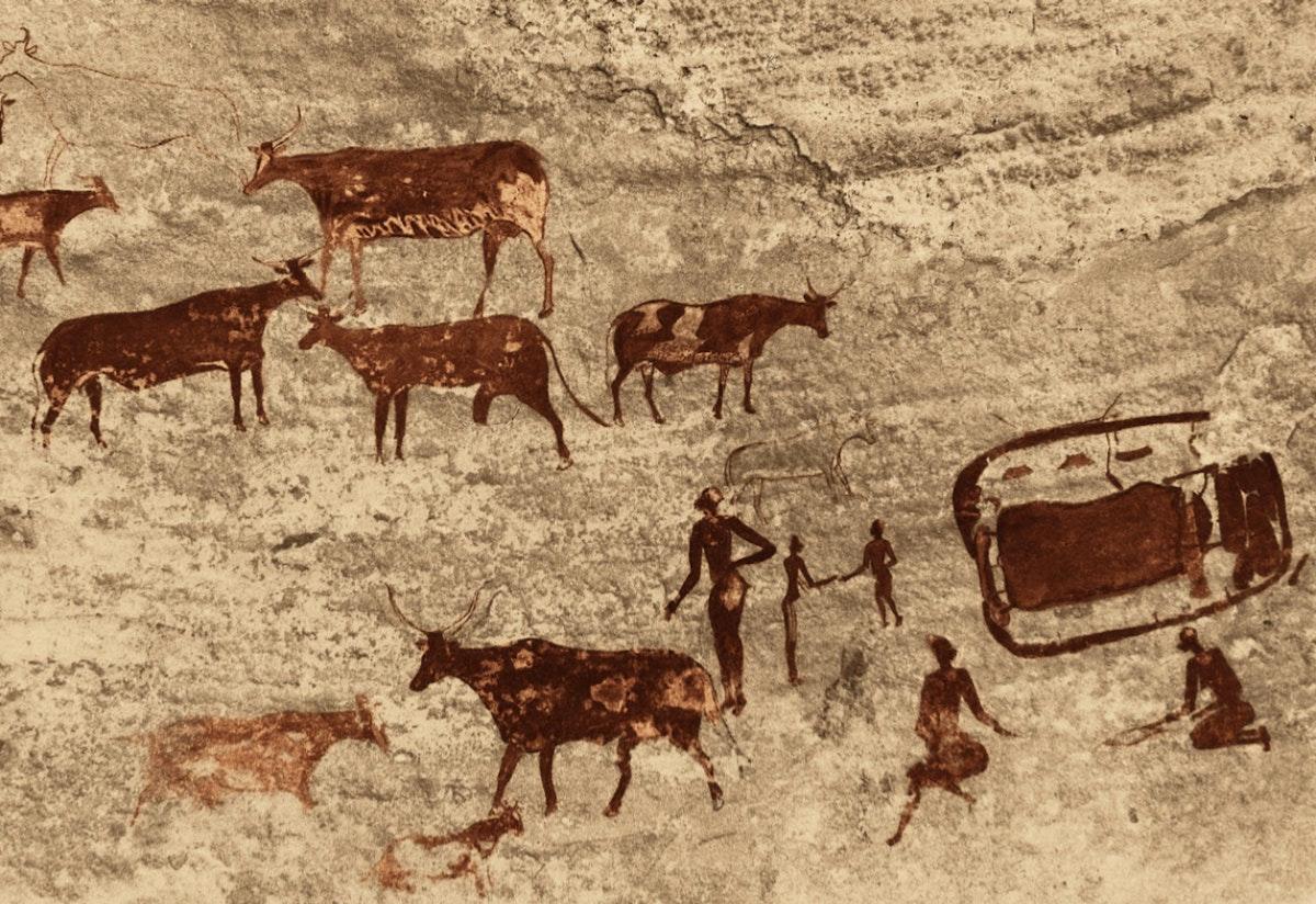 Rock painting at Sefar, Tassili n' Ajjer, Algeria